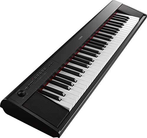 Yamaha NP12 61-Key Lightweight Portable Keyboard, Black (power adapter sold separately)